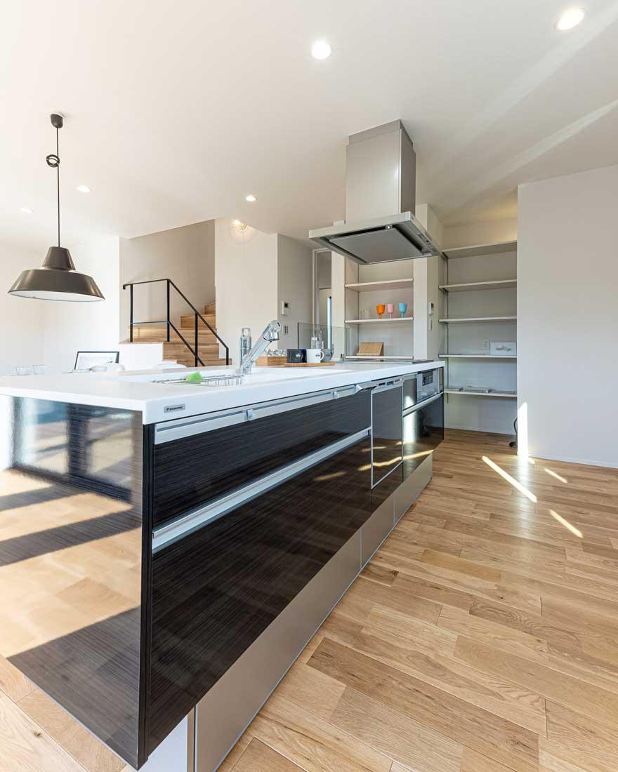 モデルハウスのキッチン