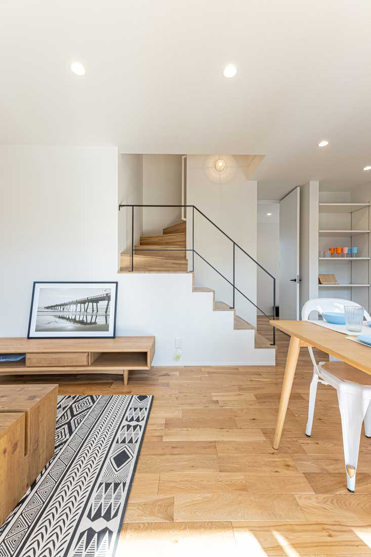 モデルハウスのリビング階段
