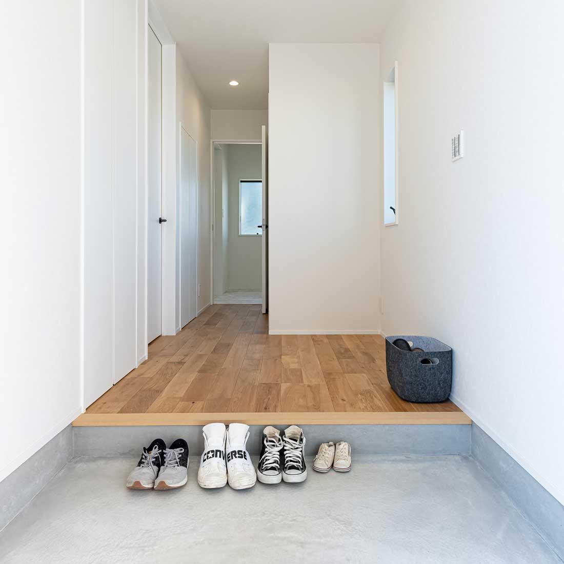 モデルハウスの玄関